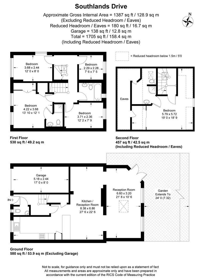 Floorplan for Southlands Drive, Wimbledon, London